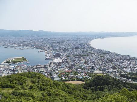 Hakodate city panoramic color