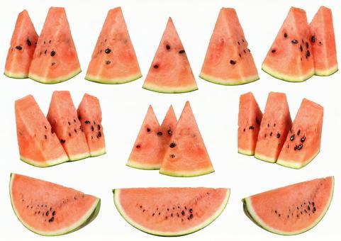 Cut out material cut watermelon set 1
