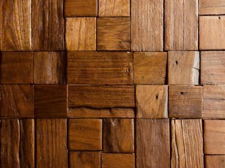 木のモザイクのテクスチャ