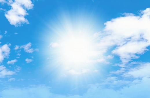 Dazzling blue sky