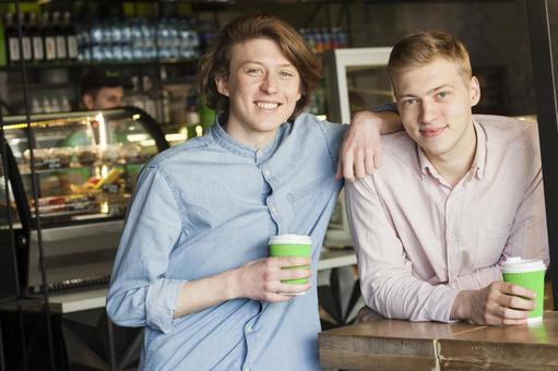 同性戀伴侶6你是在咖啡館