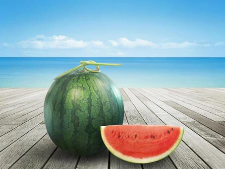 スイカ 夏の海