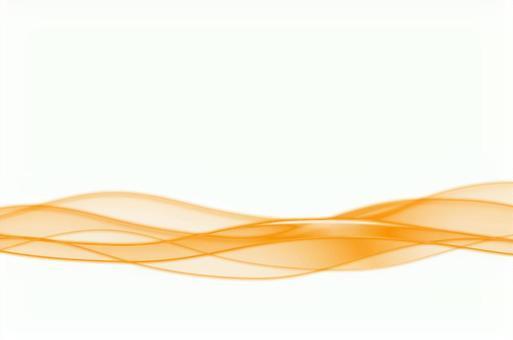 Orange abstract wave wave image white background