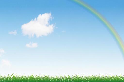 푸른 하늘과 초원 그리고 무지개 07