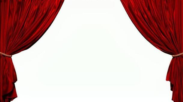 3D illustration of a red curtain with no background
