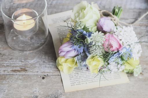Bouquet and candle
