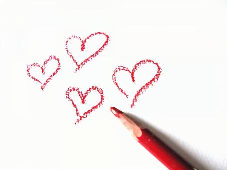 Colored pencil heart 23