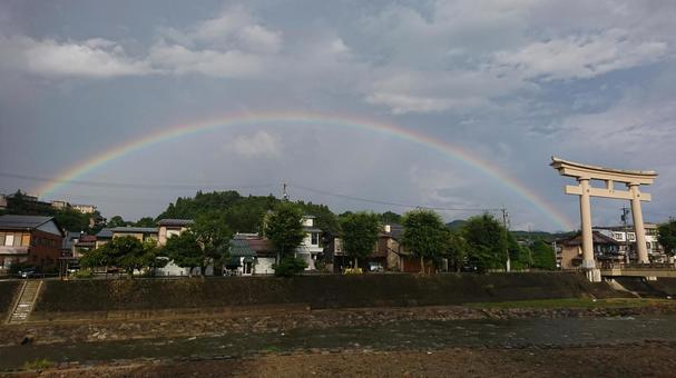 Torii and rainbow 2