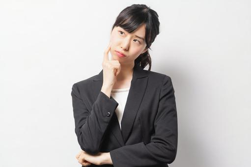 Business woman with worries