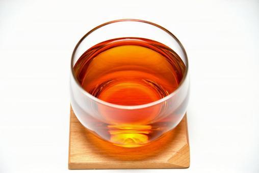 Barley tea (white background)