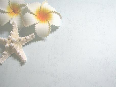 Summer Texture Wave Process Plumeria Starfish