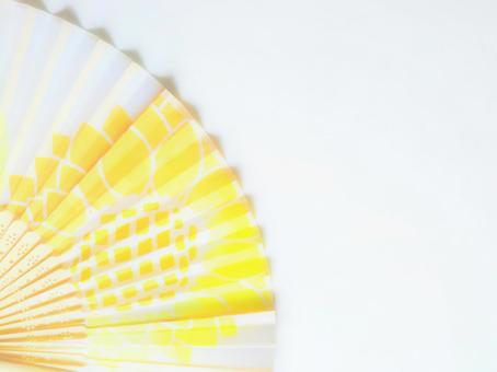 Sunflower folding fan image background frame