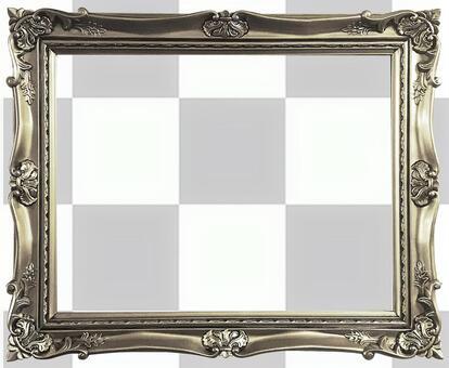 [Cutout PSD] Antique gold frame 9