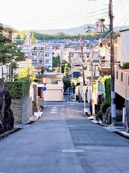 Quiet residential area in New Town