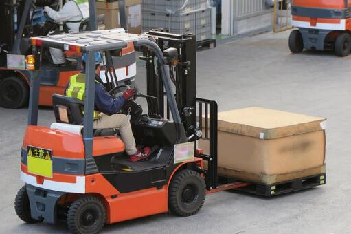 Working person No. 48 forklift