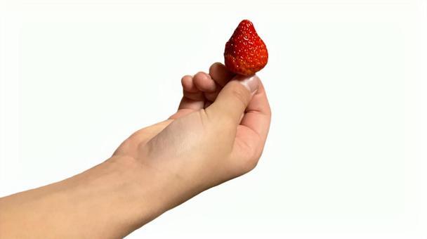 딸기를 가진 아이