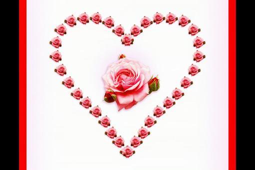 Frame heart rose