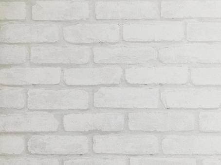 White brick background off white gray