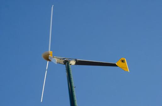 Blue sky and windmill (propeller type 3 wings) 3