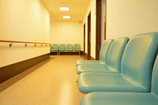 Waiting room before medical examination