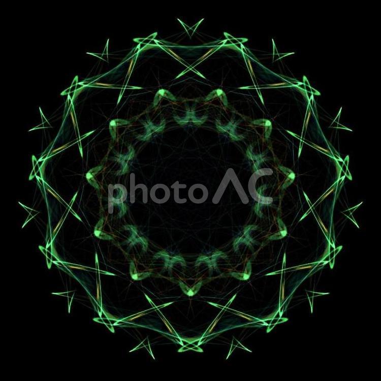 幻想的紋様035グリーンの写真