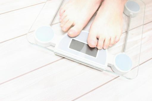Weight scale and feet (sideways)