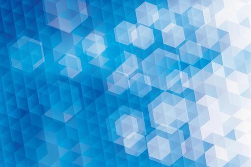 藍色六邊形抽象背景紋理素材