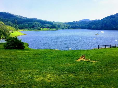 벳푸 志高湖의 풍경