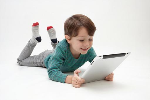 Tablet and boys 1