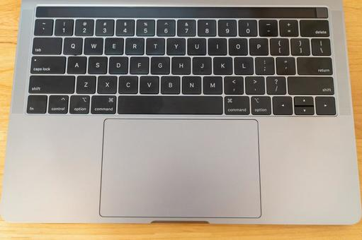 Laptop keyboard up