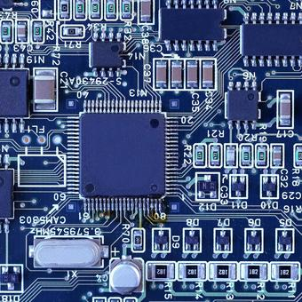 Electronic circuit integrated board image material