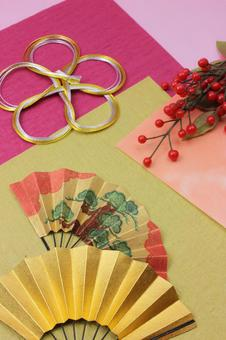 Folding fan, Mizuhiki and Senryo