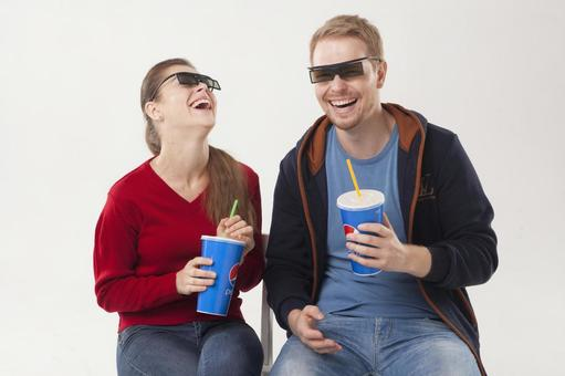 Couple 8 watching 3D movies 8
