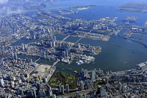 Ariake Wangan, Tokyo Bay, Aerial