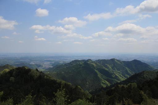 景信山 정상에서의 전망 1