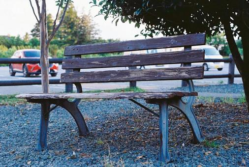 Scenery with a bench