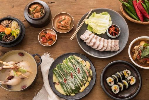 다양한 한국 요리 10
