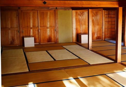 Japanese-style hall with tatami mats