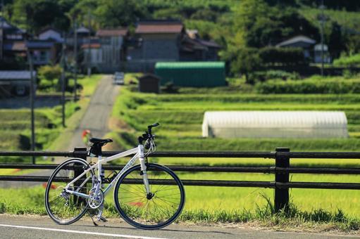 사 토야마 풍경 자전거