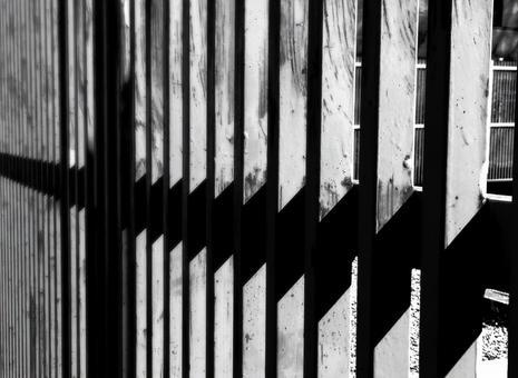 Monochrome iron fence