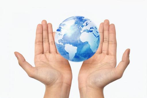 手和地球1