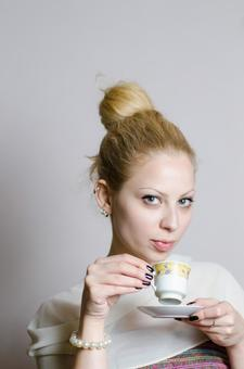 Serbian female with cup 2