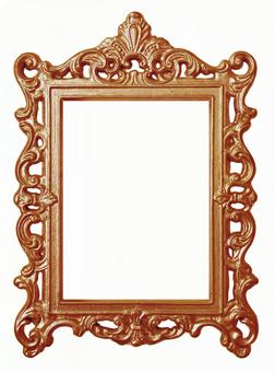Antique style red copper frame (with clipping pass)