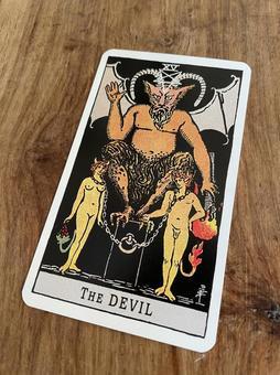 Tarot fortune-telling devil card