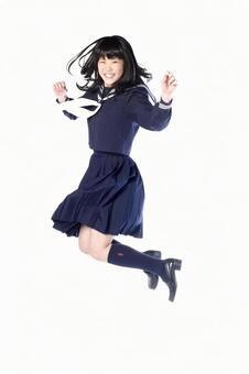 School girls to jump