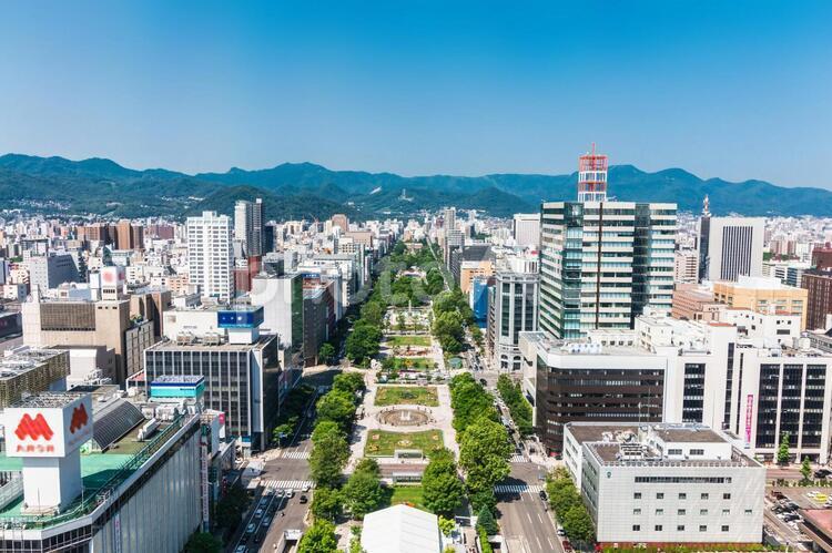 北海道 札幌 大通公園 展望の写真
