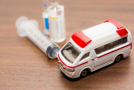 Medicine and ambulance