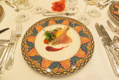 Fashionable French Festive Course Cooking Main Dish Fish Food Texture Material