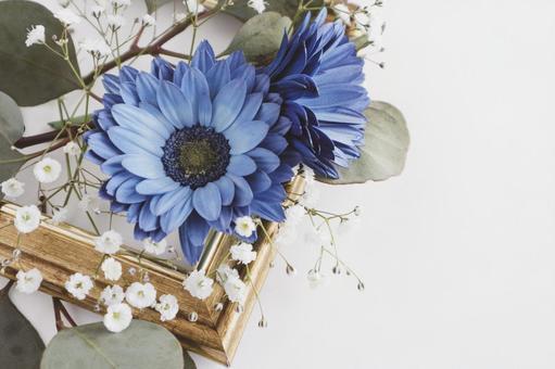 Blue gerbera frame