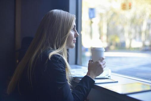 Coffee shop woman 8